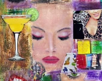 "8x10 Fine Art Print of Original Mixed Media Collage ""Pop # 2"""