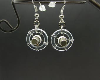 Steampunk earrings Steampunk jewelry Geek gift Handmade earrings Soviet vintage Resistor earrings Geek gift Eco friendly Jewellery for her