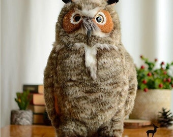 Big Owl Stuffed Animal Plush Toy