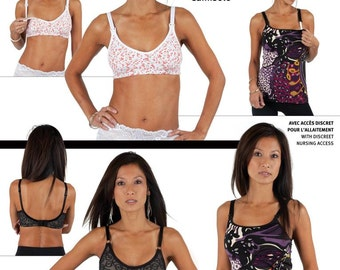 Jalie Bra and Camisole Sewing Pattern #3131 Regular and Maternity Styles 17 Sizes Bust 31-50""