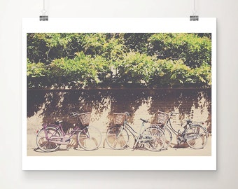 purple bicycle photograph mint bicycle print cambridge photograph purple bike photograph mint bike print travel photography
