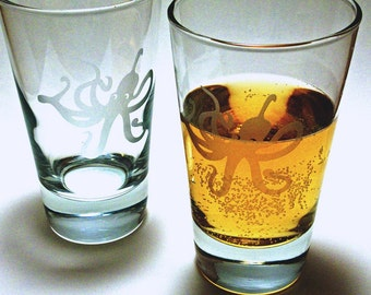 2 verres à whisky - Octopus