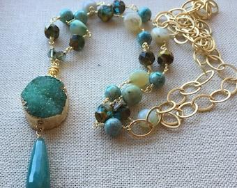 Sea Dreams Druzy Necklace