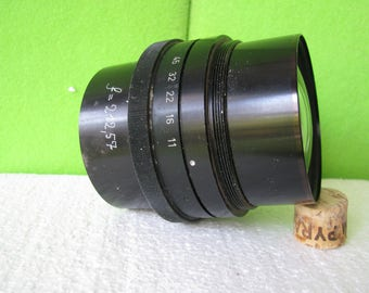 Photographica, Vintage Helioprint Large Format Lens, Made by Staeble or Agfa in Germany in the 1960's