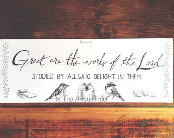 Great Are The Works Of The Lord - Digital Download Art Typography Print