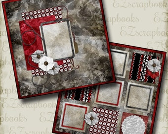 TREASURE - 2 Premade Scrapbook Pages - EZ Layout 282