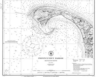 Provincetown Harbor - 1922 Nautical Map - Massachusetts -  Reprint -  Harbors 341