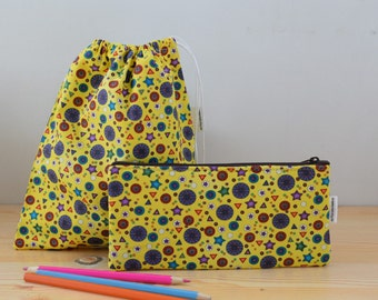 Kids pencil case,lunch bag,pencil case,kids lunch bag,sandwich bag,school bag,balloons bag,school kit,children pencil case,childrens pouch