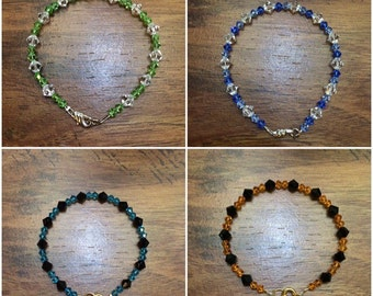 Swarovski Crystal Bracelet - All Colors Available