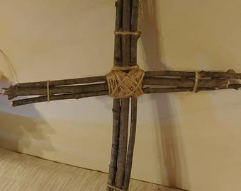Rustic cross, primative cross, rugged cross, stick cross, shabby chic cross, Christian gift, Christian decor,