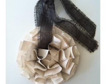 Book Paper Wreath