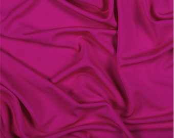 Fuschia Matte Jersey, Fabric By The Yard