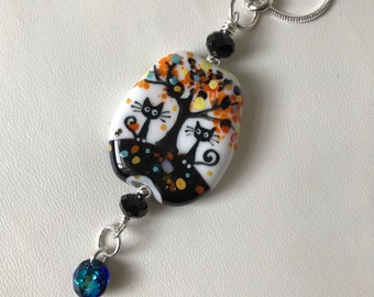 Handmade Lampwork Glass Bead Necklace - Soul Mates