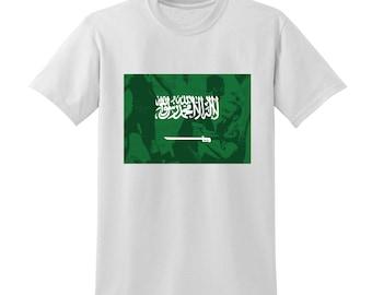 Russia World Cup 2018 Graphic Tshirt SAUDI ARABIA Flag Football Team Soccer Country