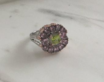Pink Flower Diamond Ring