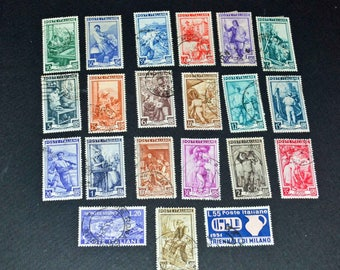 Italy very fine stamps from 1950-1951