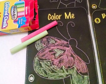 quiet book 6 pages just color and wipe away #QB69