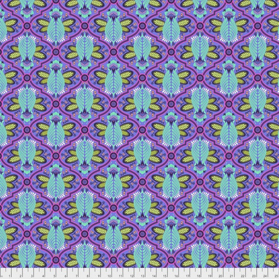"FQ BEE  IRIS Purple Tula Pink  pwtp115.irisx  18"" x 22"" Multiples cut as one length"