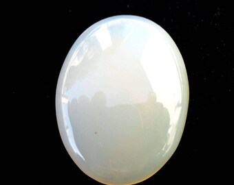 Natural Milky onyx Oval Shape 19X25 Cabochon Gemstone For Jewelry