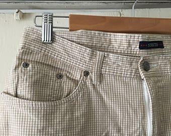 90's Gingham high waisted pants