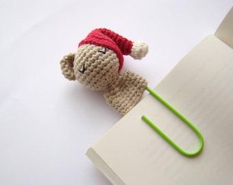 Crochet bear crochet bookmark planner clips office gift ideas teacher gift idea bear bookmark crochet amigurumi bear fun paper clips crochet