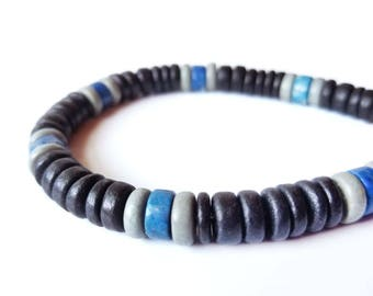 Tribal men's bracelet - wood bracelet for men - East Coast