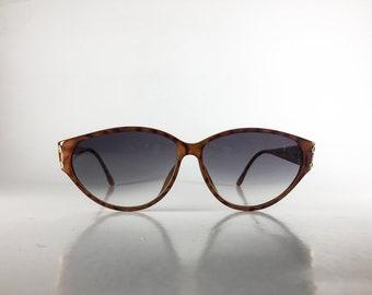CHRISTIAN DIOR Vintage Sunglasses Women TORTOISE Cat Eye 1980s CHRS39O-1