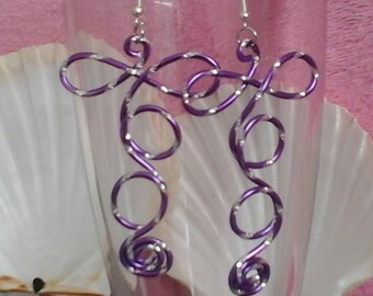 T to you in 2mm carved purple lilac aluminum wire