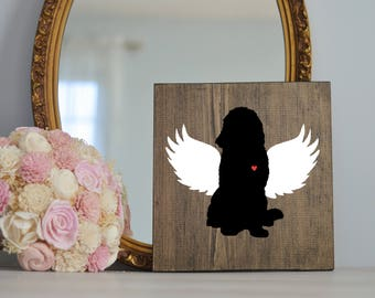 Newfoundland Angel Wing Silhouette, Remembrance Sign, Dog Memorial, Loss of Dog, Newfie, Pet Loss, Newfoundland Memorial, Dog Memorial