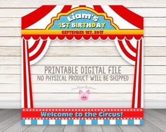 Circus Photo Booth Frame, Printable Carnival Photo Booth Frame, Circus Birthday Party, Circus Tent, Circus Photobooth Frame, Carnival Party