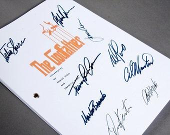 The Godfather Film Movie Script with Signatures / Autographs Reprint Mafia Unique Gift Screenplay Present TV Fan Geek Marlon Brando
