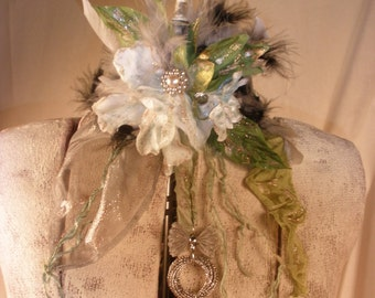 The Lady of the Swamp Marie Antionette Choker and Hair Clips