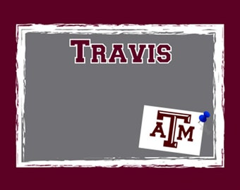Personalized college bulletin boards! Customize in your school colors in our cool Paintbrush Design!