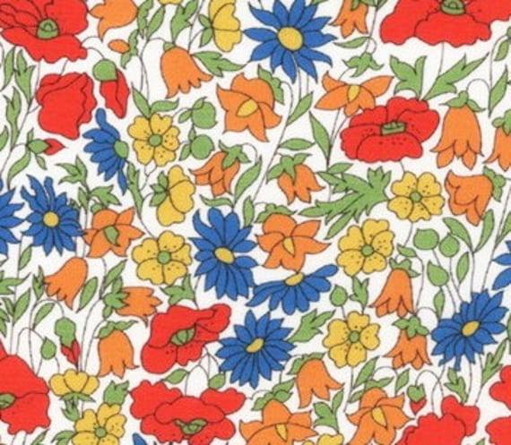 Tana lawn fabric from Liberty of London, Poppy and Daisy