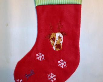 Custom Embroidered Pawtrait Holidy Stocking