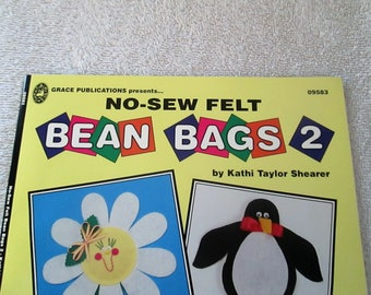 Pattern Book, Bean Bags no-sew felt, by Kathi Taylor Shearer, 27 pages, new