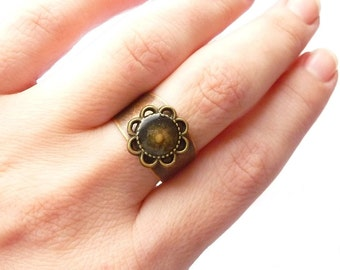 Mustard Seed RING, Faith ring, MUSTARD SEED jewelry, faith gifts, hope ring jewelry, Unique rustic jewelry, Unique ring - Faith gift for her
