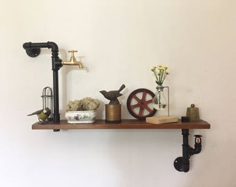 Shelf/Countertop style Industtiale Vintage in 1/2 inch hydraulic tubes