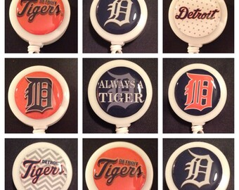 Detroit Tigers Baseball ID Badge Name Tag Holder Retractable Reel Perfect For Nurse, RN, CNA, Teacher, Billard Player, Sports