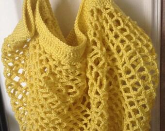 Net bag handmade crochet