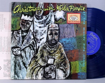 Korla Pandit - Christmas With Korla Pandit - Blue Colored Vinyl Record Album 1962 Fantasy Records Gatefold
