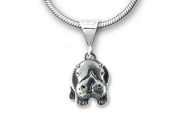 Sterling Silver Hippo Pendant