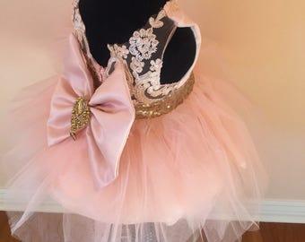 Peach Pageant Dress   Peach Baby Dress   Peach Infant Dress   Peach Dress   Peach Bow Dress   Peach Sequins Dress   Pageant Dress   Tulle