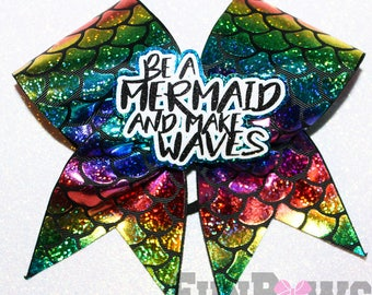 Gorgeous Be a Mermaid Make Waves Cheerleading Bow by - FunBows !!