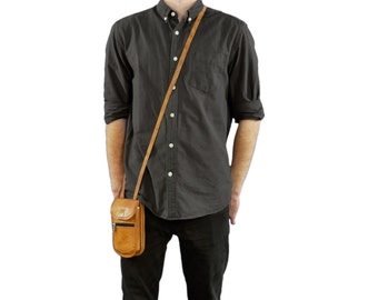 Gusti leather ' Ronny ' genuine leather bum bag
