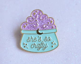 She's So Crafty Halloween Soft Enamel Pin