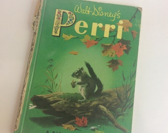 Vintage Children's Book, Walt Disney's Perri