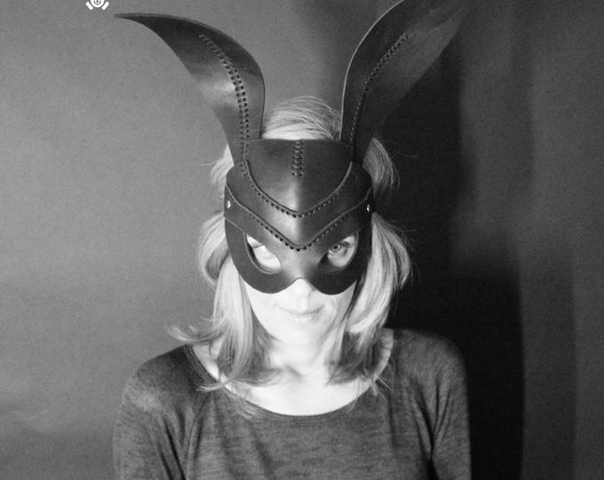RABBIT MASK leather handmade mask Halloween cosplay fetish animal