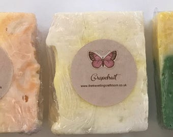 Set of three fragrant handmade soap bars