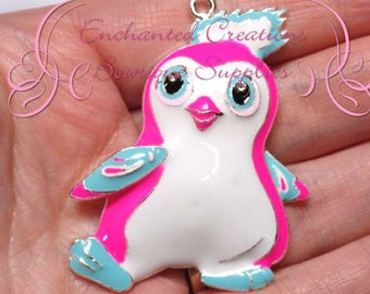 """2"""" White and Pink Hatchimal Inspired Charm, Chunky Pendant, Keychain, Bookmark, Zipper Pull, Chunky Jewelry, Purse Charm, Planner Charm"""